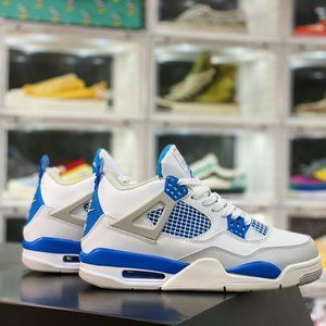 "Air Jordan 4Tinker ""Black Cement"" Michael Jordan AJ4 Generation Middle School Re"